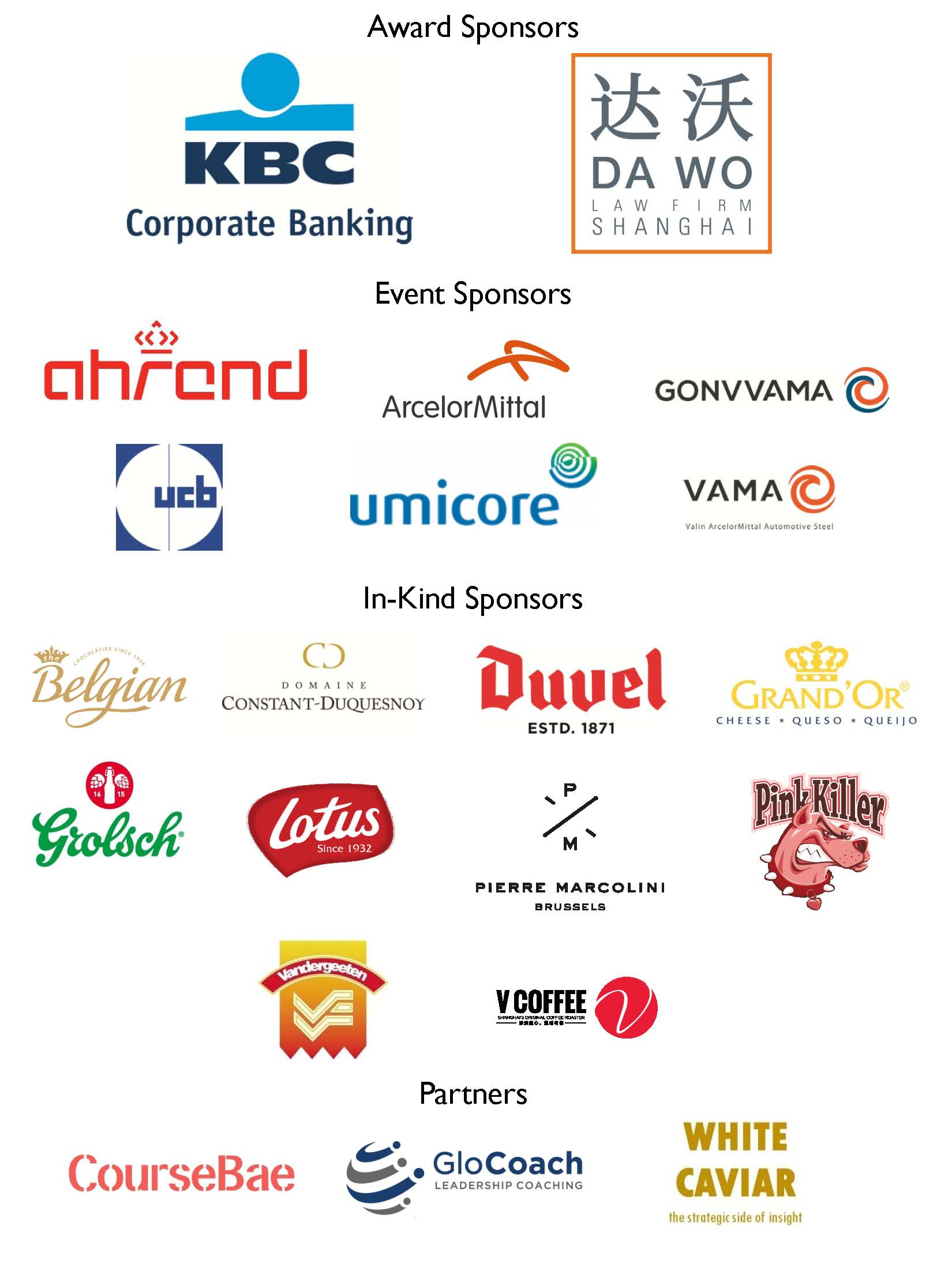 Sponsors and Partners 2019